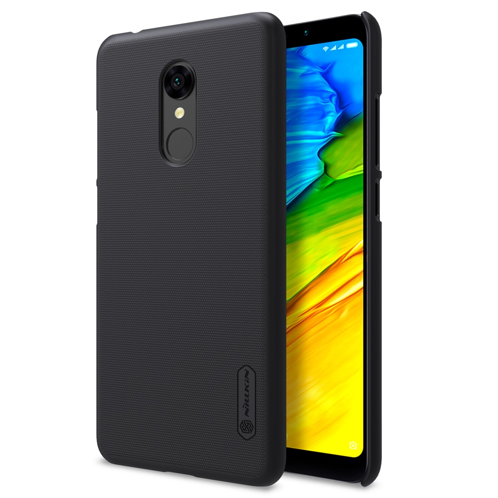 Redmi 5 Frosted Shield Hard Back Cover by Nillkin - Black