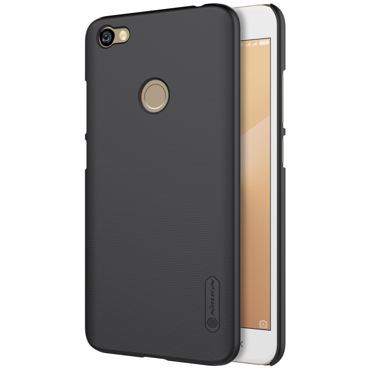 Redmi Note 5A Prime Frosted Shield Hard Back Cover by Nillkin - Black