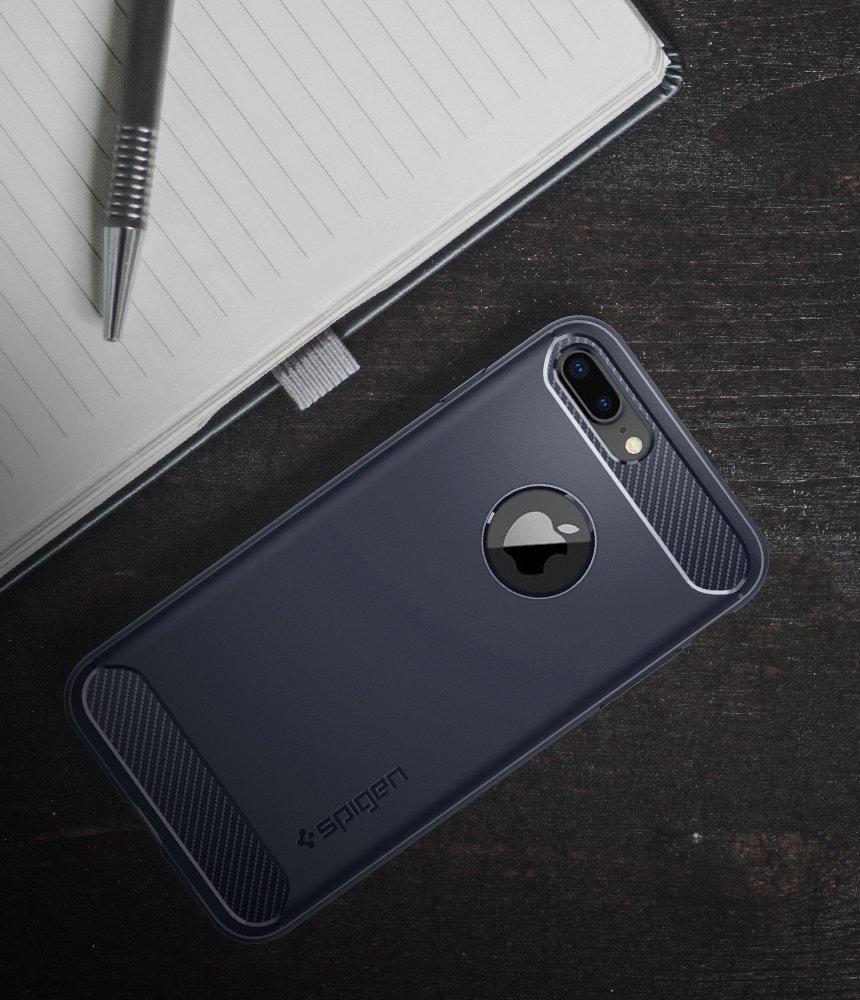 Apple iPhone 7 Plus / 8 Plus  Spigen Rugged Armor Case - Midnight Blue