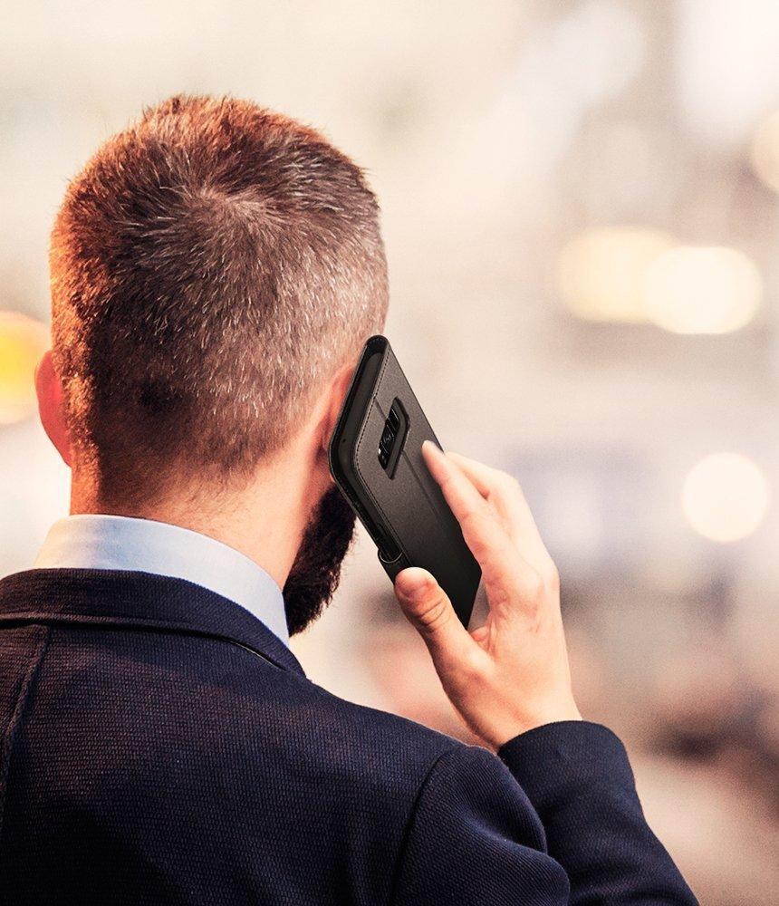Samsung Galaxy S8 Spigen Wallet S Flip Cover Case - Matte Black