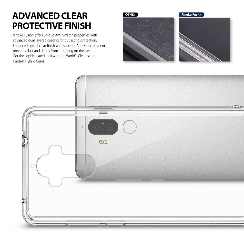Huawei Mate 9 Dual Layer Ringke Fusion Case - Crystal Clear