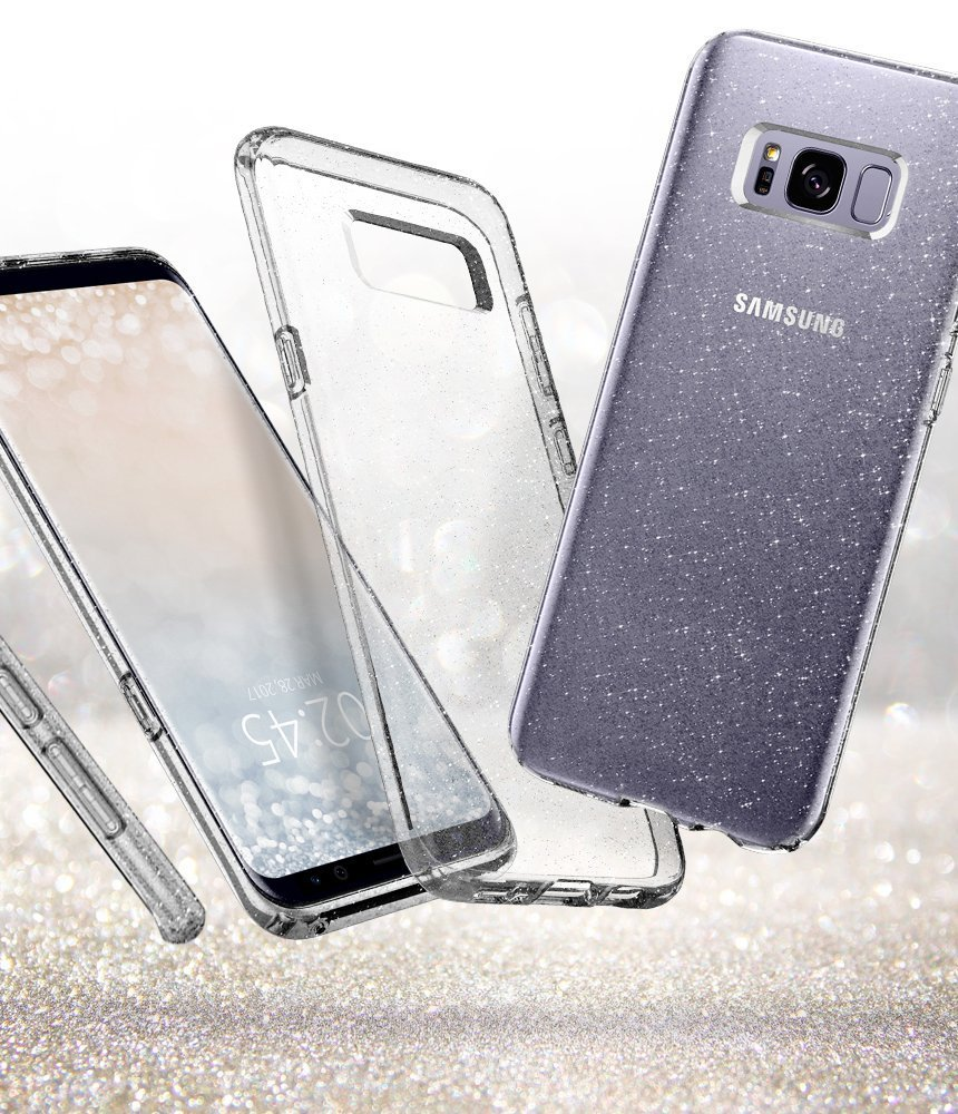 Galaxy S8 Plus Spigen Liquid Crystal Glitter Case - Crystal Quartz
