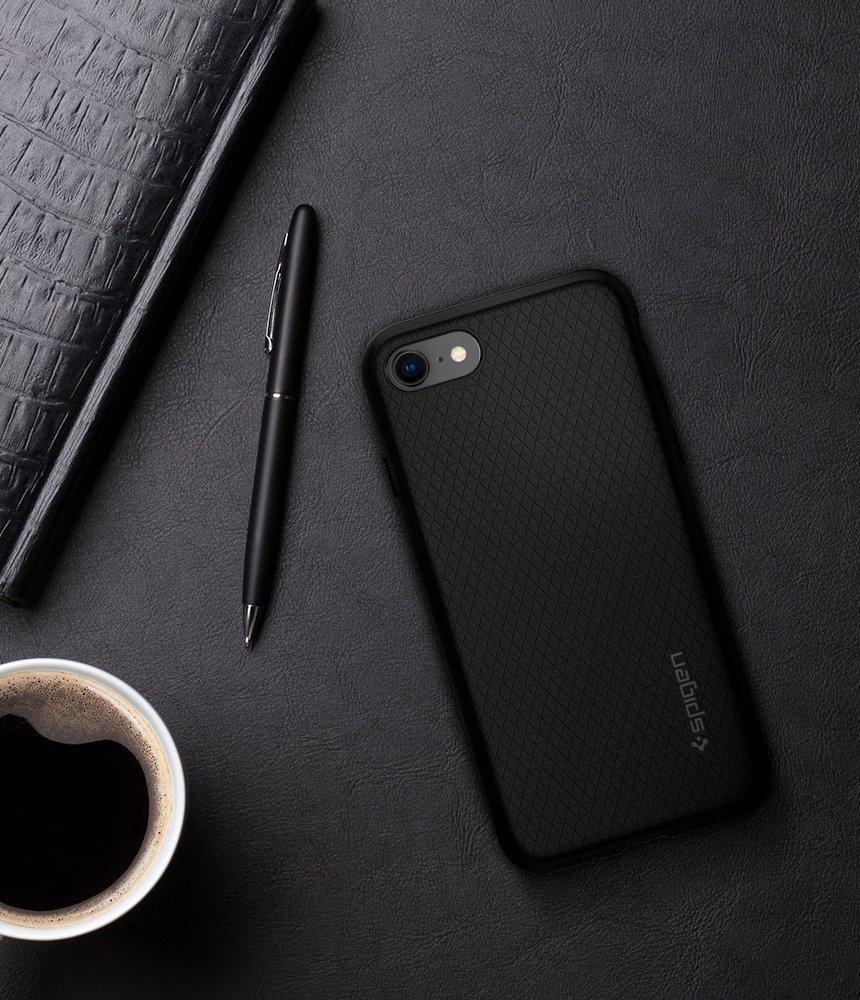 Apple iPhone 8 / iPhone 7 Spigen Liquid Air Case - Black