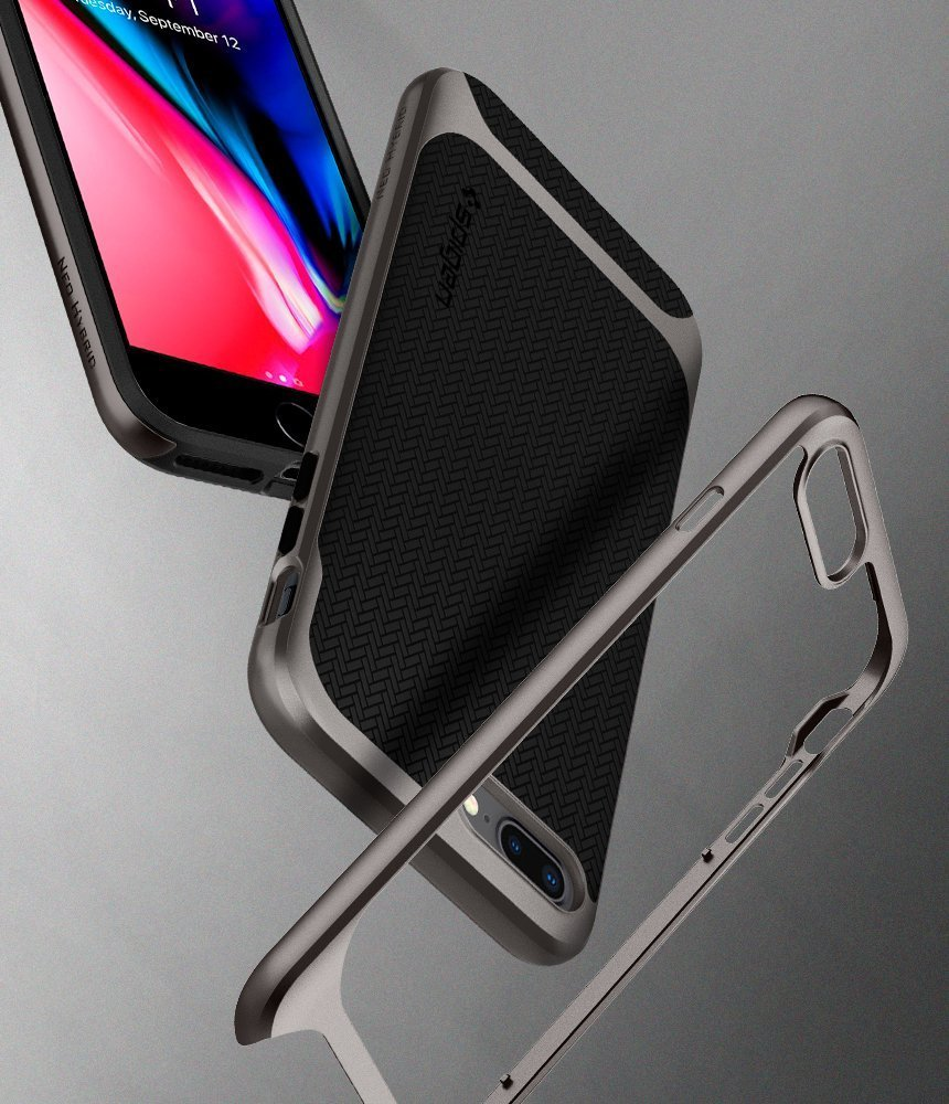 Apple iPhone 8 Plus / 7 Plus Original Spigen Case Neo Hybrid Herringbone - Gunmetal
