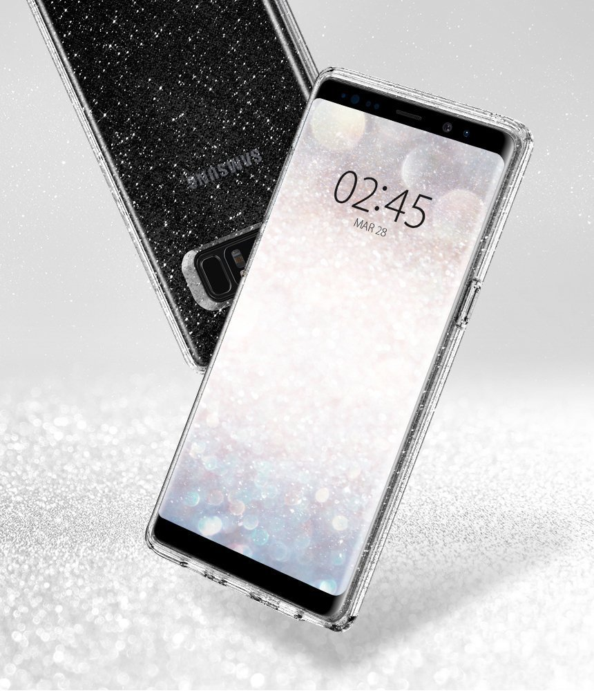 Galaxy Note 8 Spigen Liquid Crystal Glitter Case - Crystal Quartz