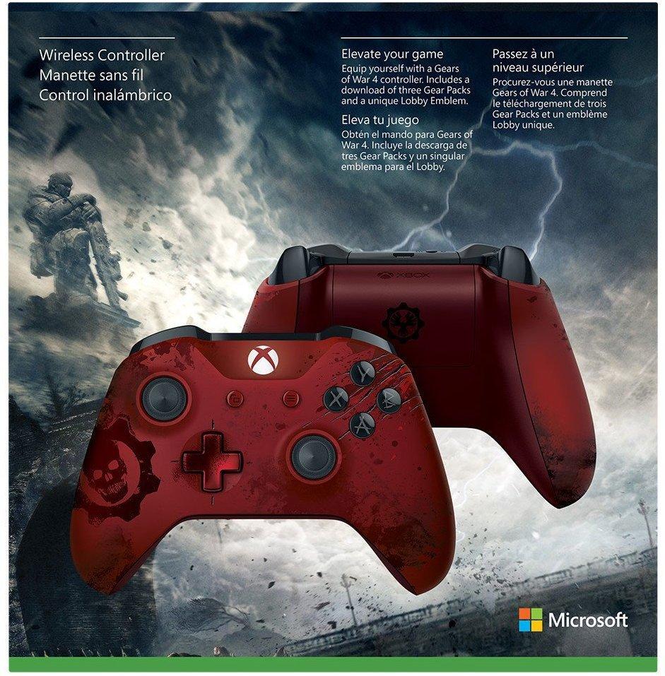 Xbox Wireless Controller - Gears of War 4 Crimson Omen Limited Edition  - Microsoft