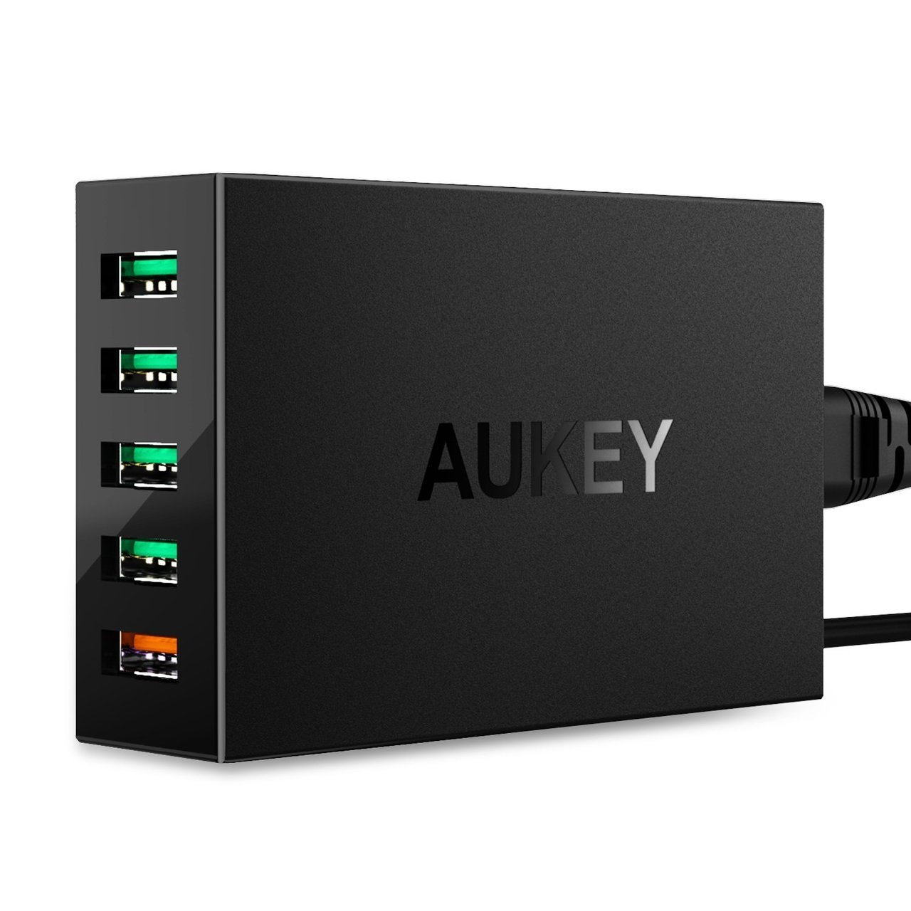 AUKEY 5-Port 54W Desktop Charger with QC 3.0 - Black - PA-T15