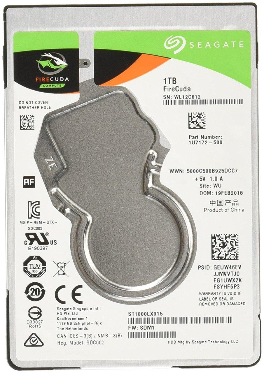 Seagate Firecuda Gaming 1TB 2.5-Inch SATA 6GB/s 5400rpm 128 MB Cache Internal Hard drive (ST1000LX015)