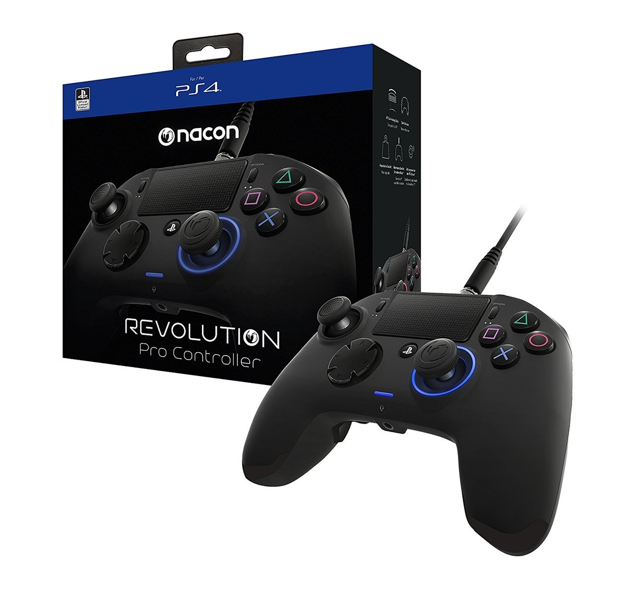 PlayStation 4 Revolution Pro Controller  Black - Sony
