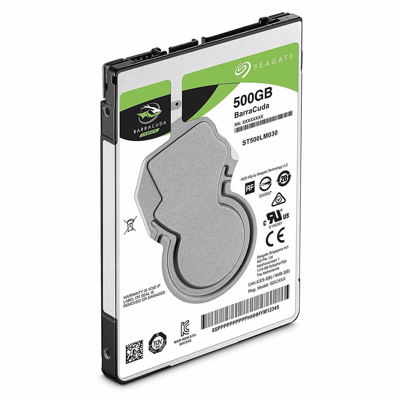 Seagate 500GB BarraCuda SATA 6Gb/s 128MB Cache 2.5-Inch 7mm Internal Hard Drive (ST500LM030)