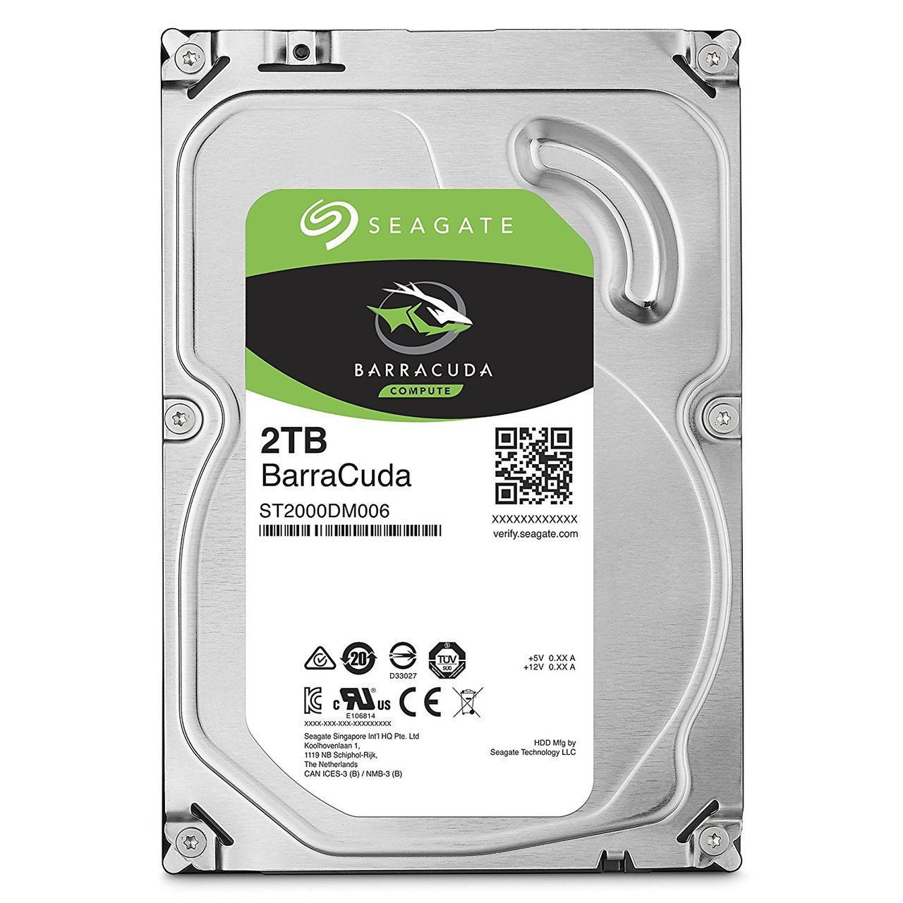 Seagate 2TB BarraCuda SATA 6 Gb/s 7200 RPM 64MB Cache 3.5 Inch Desktop Hard Drive