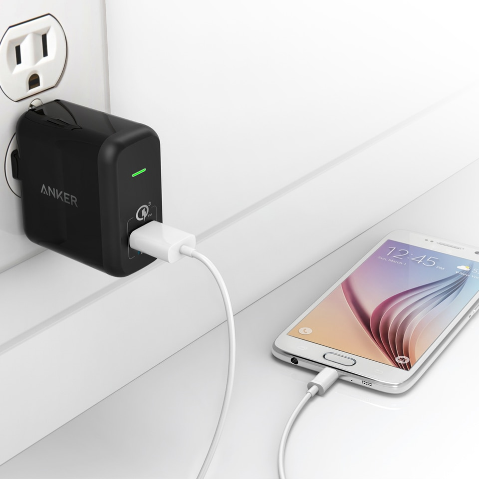 Anker PowerPort+ 1 Wall Charger with Quick Charge 3.0 - Black
