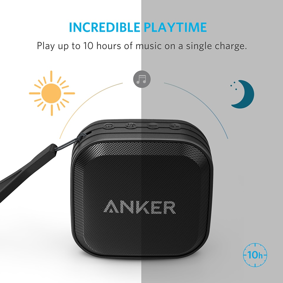 Anker SoundCore Sport Bluetooth Speaker Waterproof - Black (A3182H12)