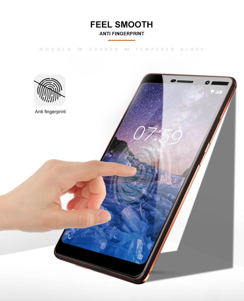 Mocolo Nokia 7 Plus Edge to Edge Tempered Glass - Black
