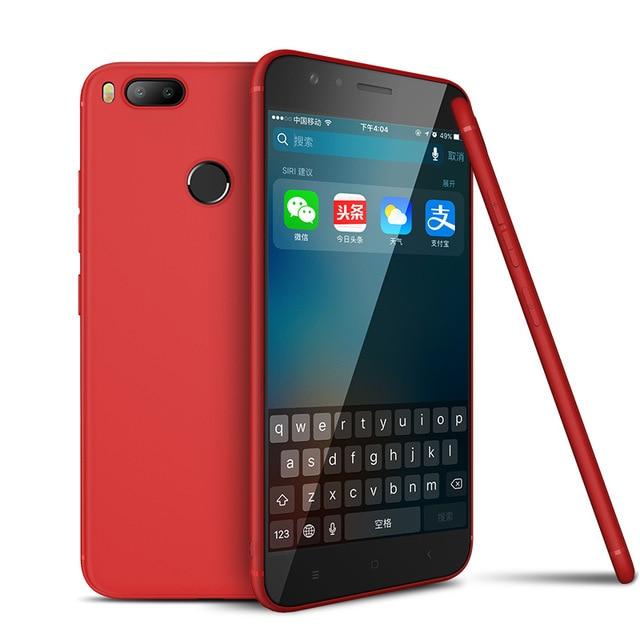 Mi A1 Android One Cafele Soft Matte TPU Case - Red