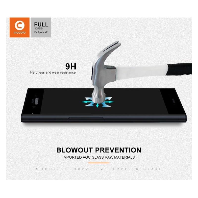 Mocolo Sony Xperia XZ1 Edge to Edge Tempered Glass - Black
