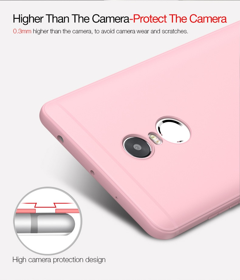 Mi Redmi Note 4 / 4X Cafele Soft Matte TPU Case - White - Fits on Pakistani Variant