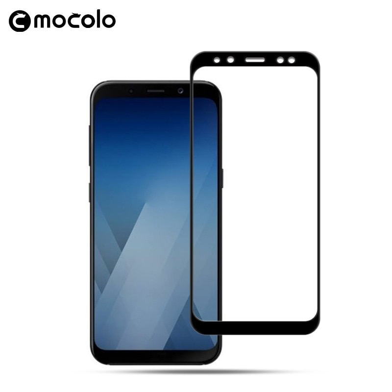 Mocolo Samsung Galaxy A8 2018 Edge to Edge Tempered Glass - Black