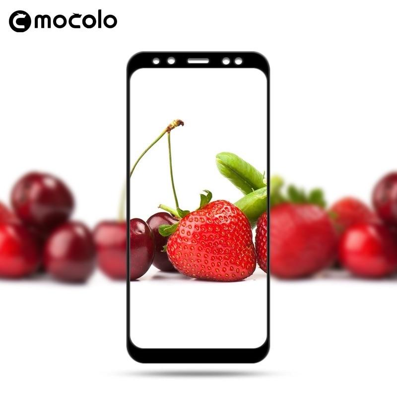 Mocolo Samsung Galaxy A8 Plus 2018 Edge to Edge Tempered Glass - Black