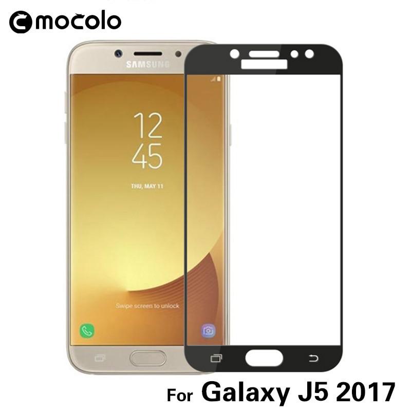 Mocolo Samsung Galaxy J5 2017 Edge to Edge Tempered Glass - Black