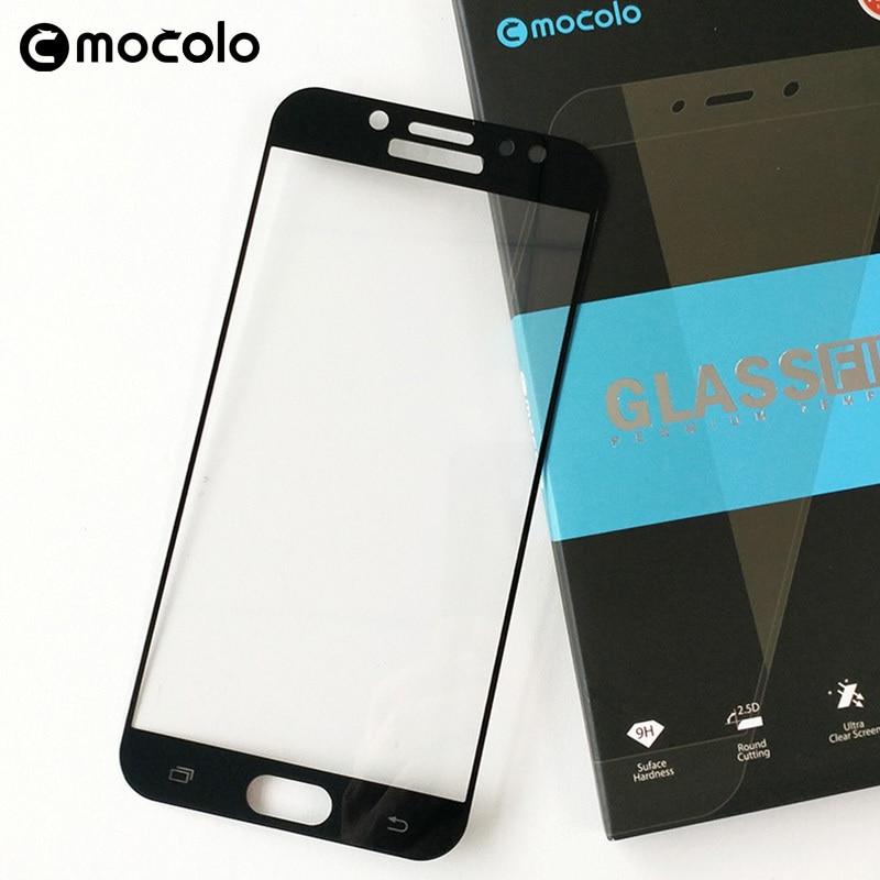 Mocolo Samsung Galaxy J7 2017 Edge to Edge Tempered Glass - Black