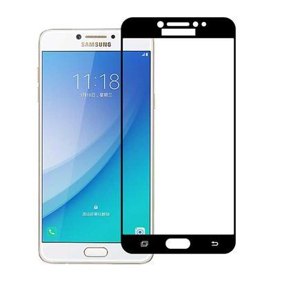Mocolo Samsung Galaxy C5 Pro Edge to Edge Tempered Glass - Black