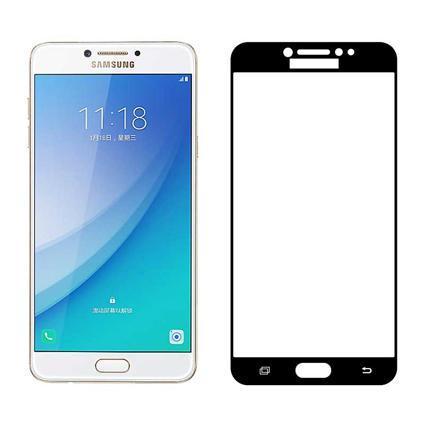 Mocolo Samsung Galaxy C5 Pro Edge to Edge Tempered Glass - Black
