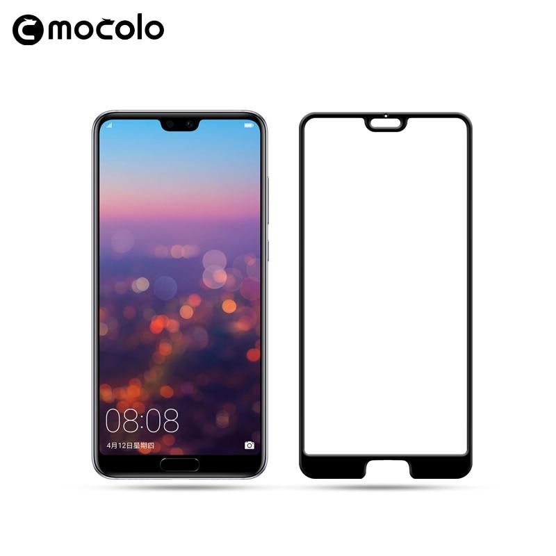Mocolo Huawei P20 3D Edge to Edge Tempered Glass - Black.