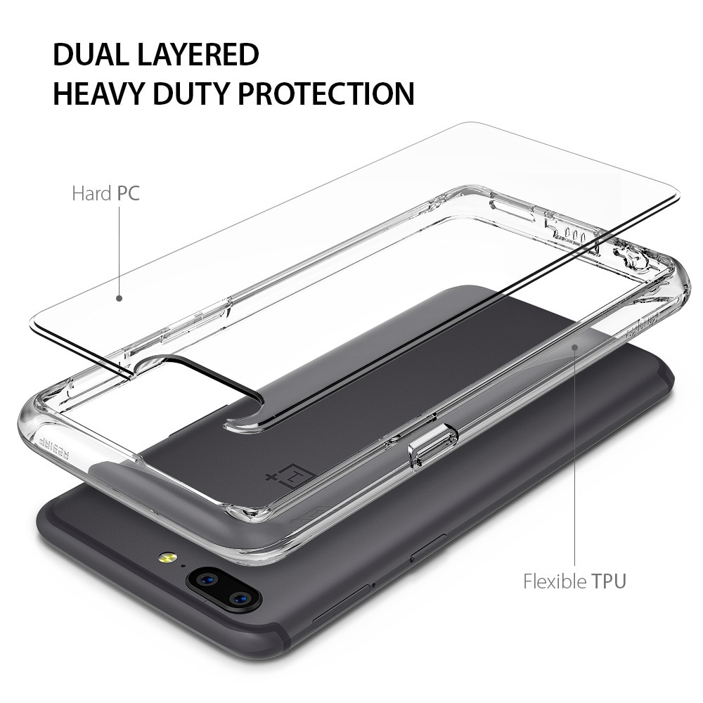 OnePlus 5 Ringke Hybrid Drop Protection Fusion Case - Crystal Clear