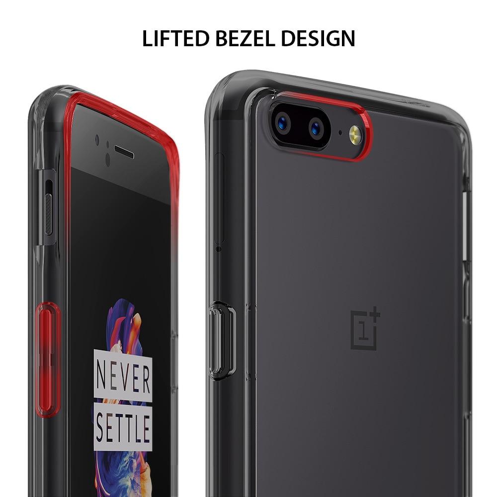 OnePlus 5 Ringke Hybrid Drop Protection Fusion Case - Smoke Black