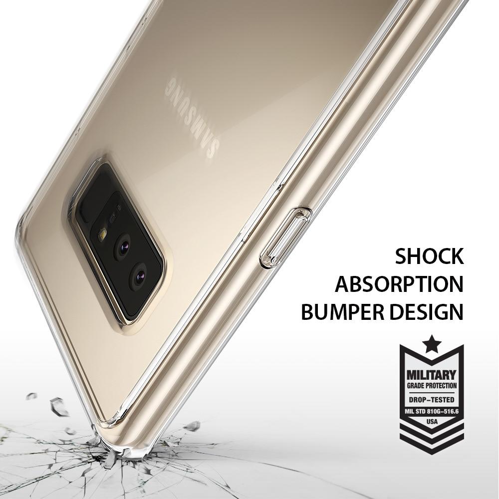 Galaxy Note 8 Ringke Fusion Hybrid Drop Protection Case - Smoke Black