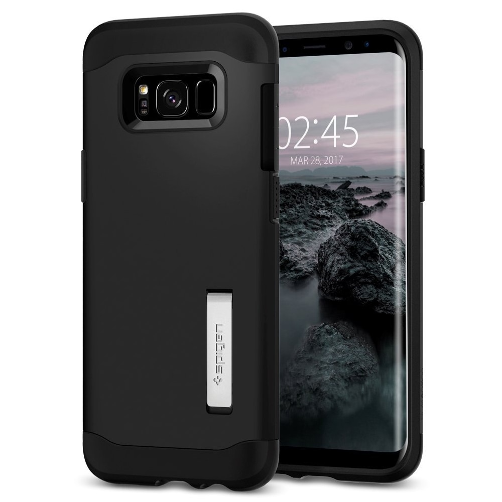 Galaxy S8 Plus Spigen Slim Armor Case with Kickstand - Black