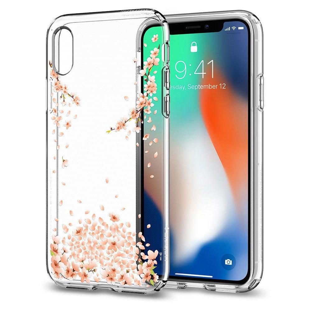 Apple iPhone X Spigen Liquid Crystal Blossom Crystal Clear Case