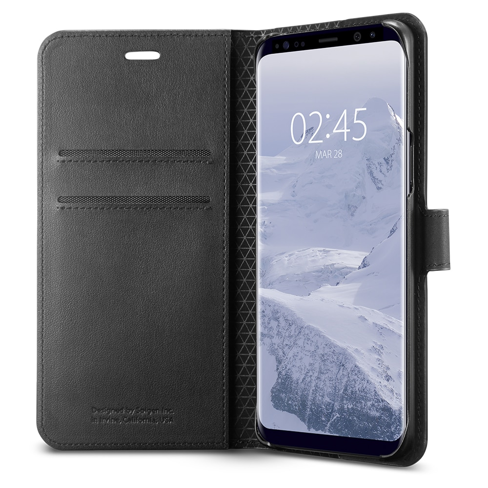 Samsung Galaxy S9 Spigen Original Wallet S Flip Cover Case  - Black