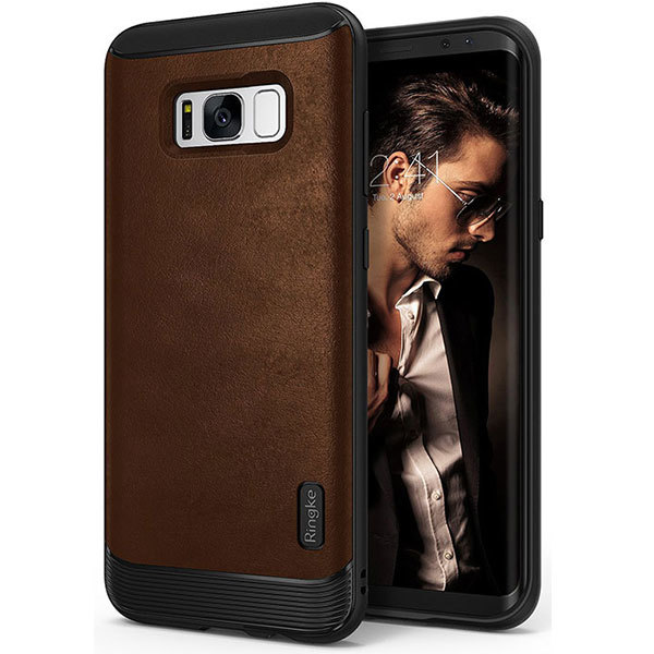 Galaxy S8 Ringke Flex S Leather Infused Case - Gray
