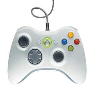 Wired USB Controller for PC & Xbox 360 White  - Games Arena