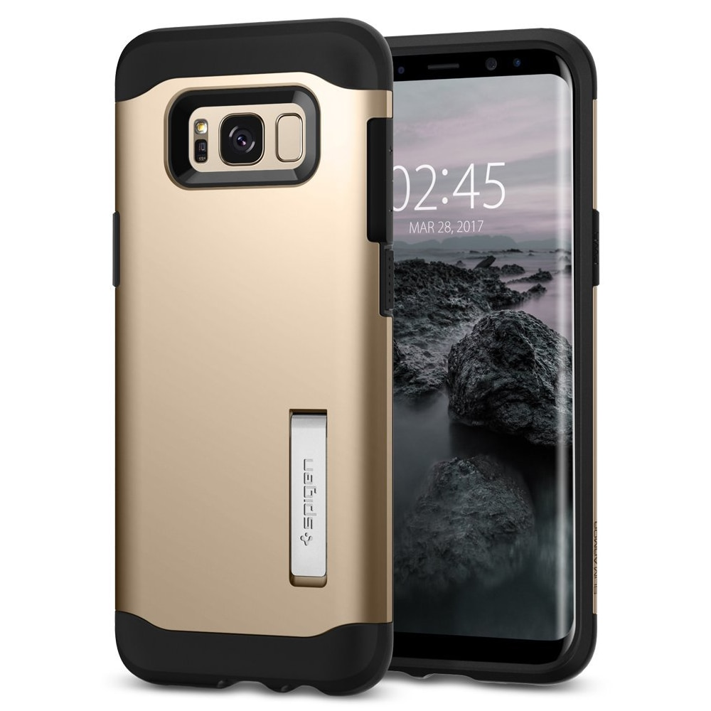 Galaxy S8 Plus Spigen Slim Armor Case with Kickstand - Champagne Gold