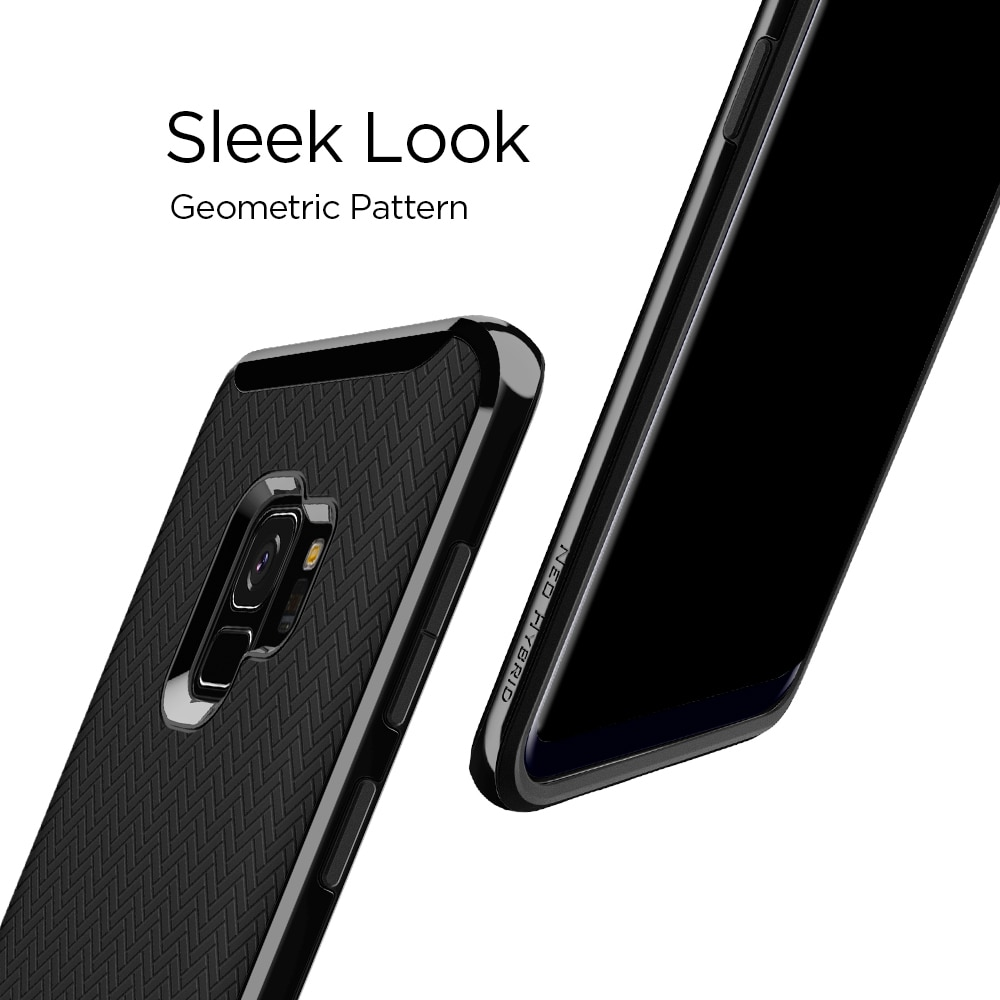 Samsung Galaxy S9 Spigen Original Neo Hybrid Dual Layer Case - Shiny Black