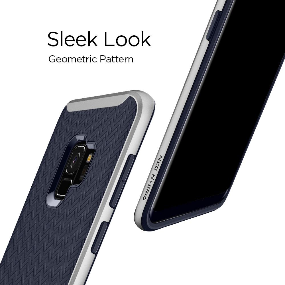Samsung Galaxy S9 Spigen Original Neo Hybrid Dual Layer Case - Arctic Silver
