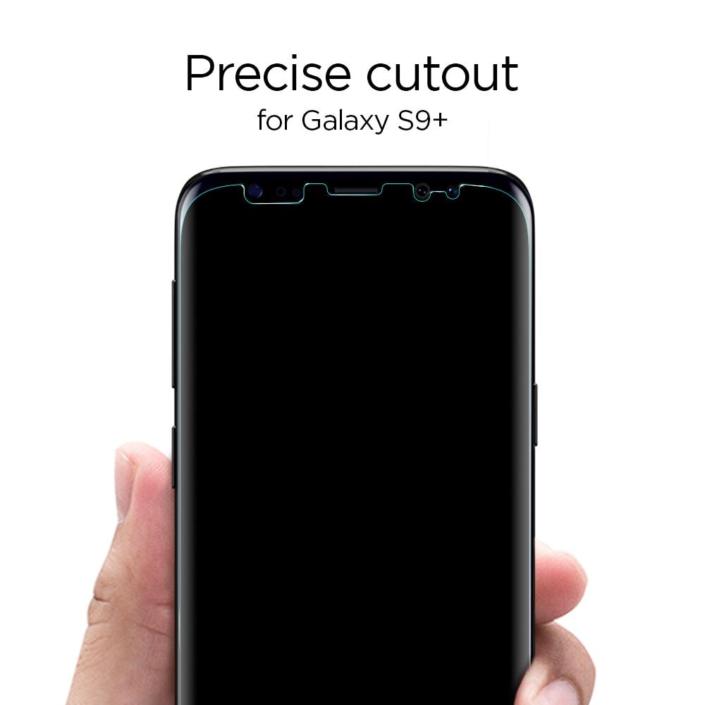Galaxy S9 Plus Spigen Neo Flex Case Friendly Screen Protector - 2 PACK