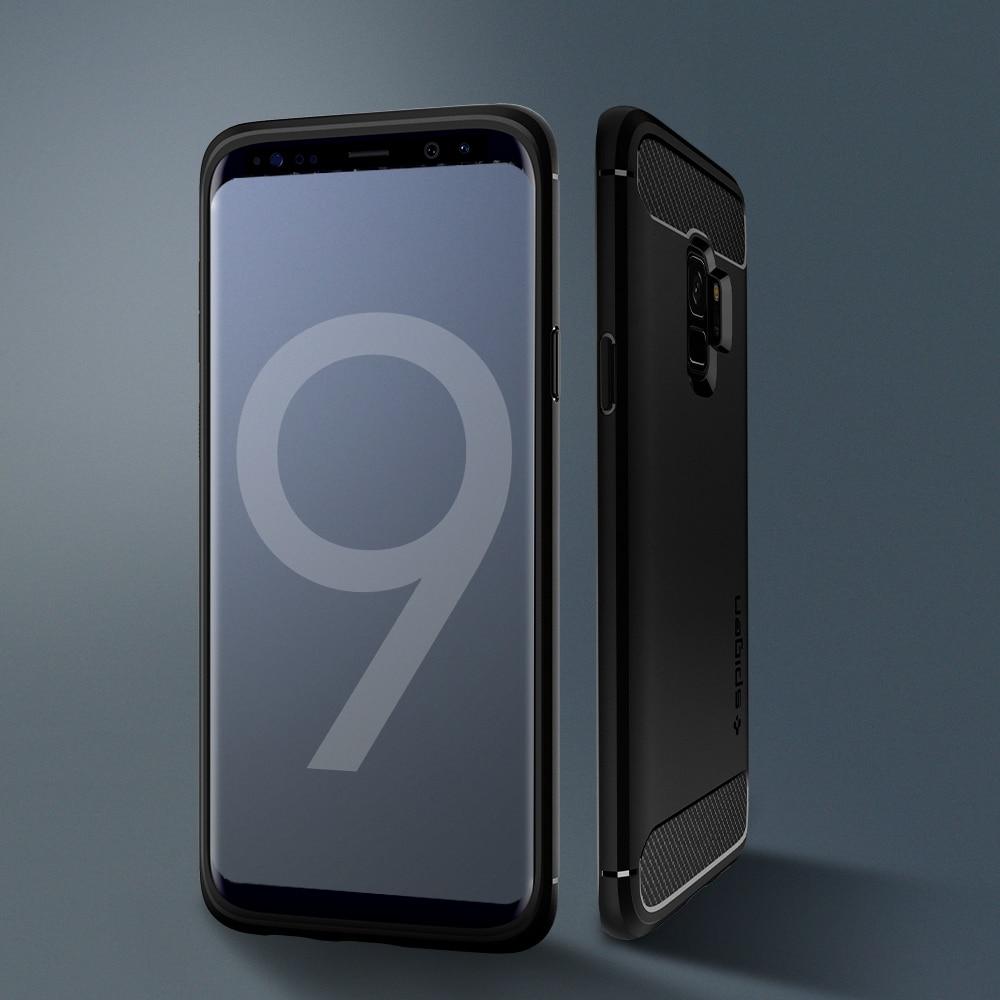 Samsung Galaxy S9 Spigen Original Rugged Armor Soft Case - Matte Black