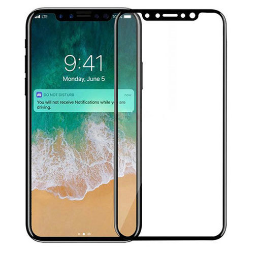 Mocolo iPhone X Edge to Edge Tempered Glass - Black