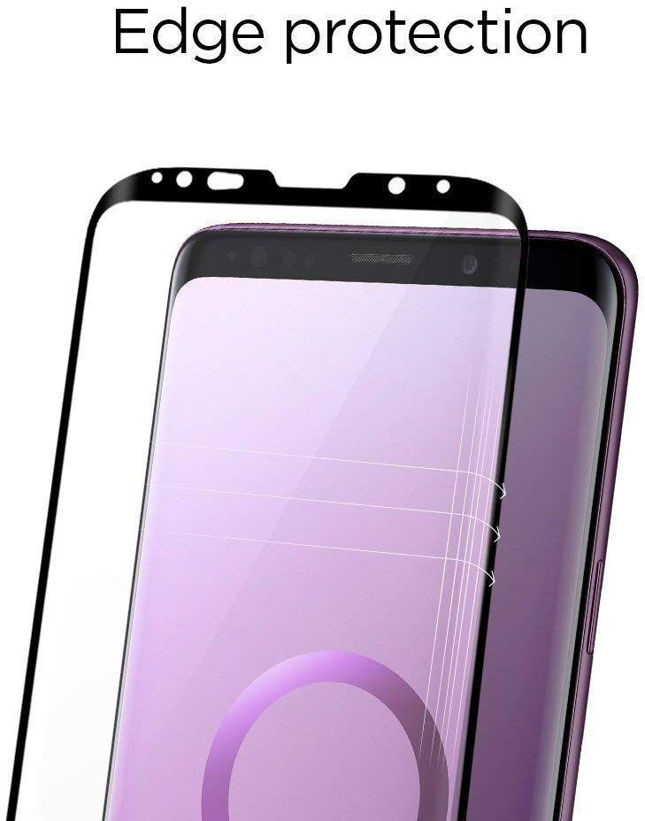 Galaxy S9 Spigen GLASTr Curved Slim Case Friendly Curved Tempered Glass