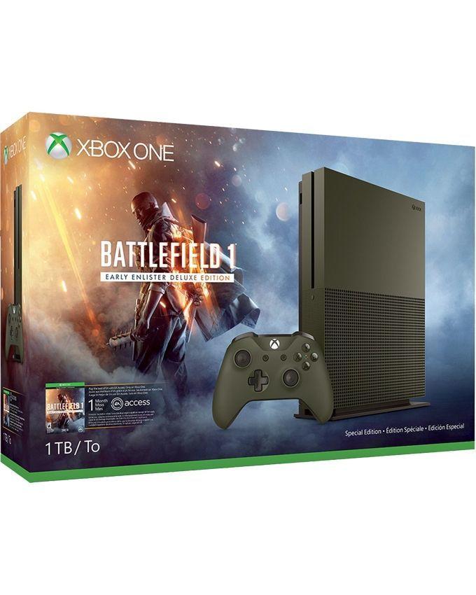 Microsoft Xbox One S 1TB(HDD) Console  Battlefield 1 Special Edition Bundle