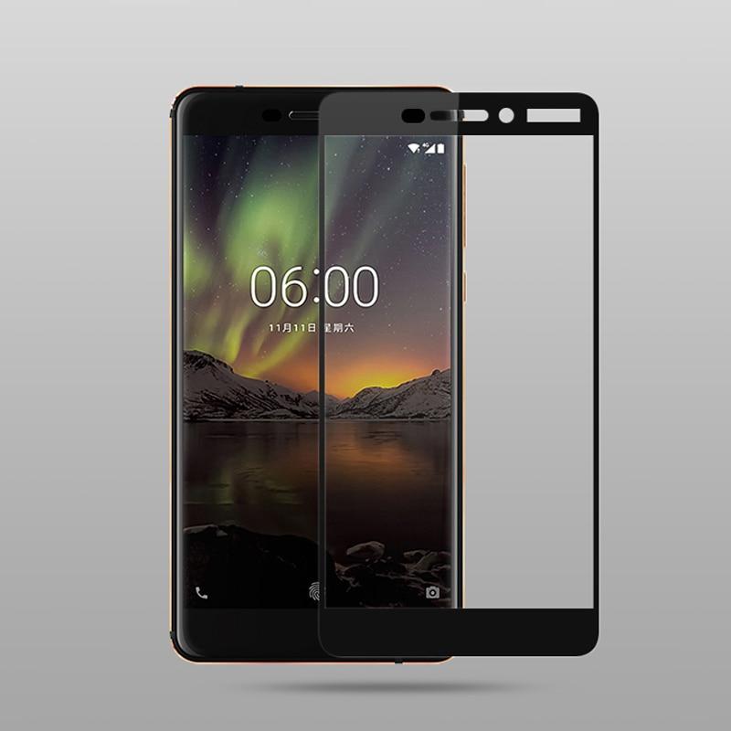 Mocolo Nokia 6.1 (Nokia 6 2018) Edge to Edge Tempered Glass - Black