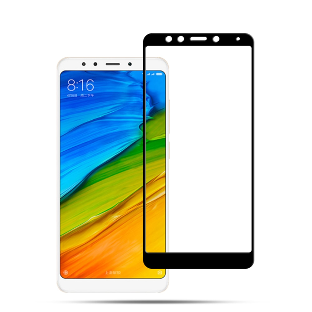 Mocolo Mi Redmi 5 Plus Edge to Edge Tempered Glass - Black