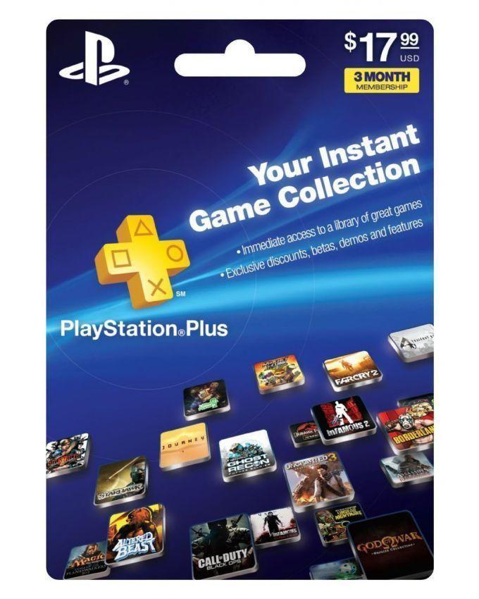 PlayStation 3 Months Membership Card USA - Sony