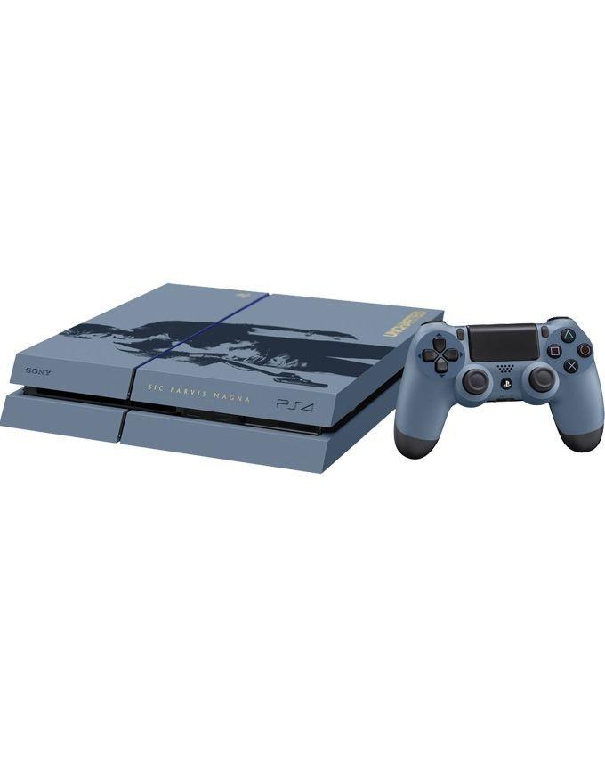 Sony PlayStation 4 Region 2 PAL 500GB(HDD) Console  Uncharted 4 Limited Edition Bundle Grey & Blue