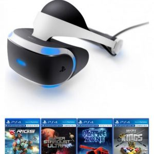 PlayStation VR Headset with 4 VR Games Black - Sony