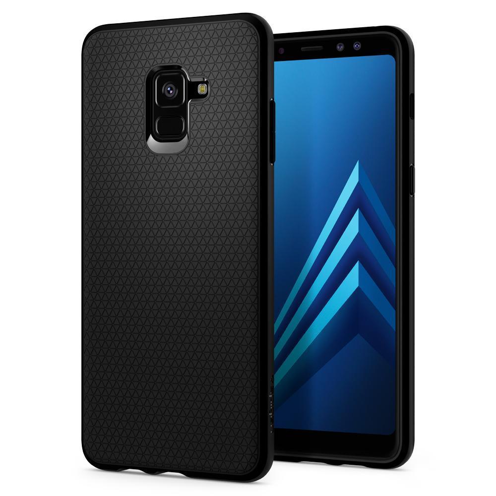 Samsung Galaxy A8 Plus 2018 Spigen Original Liquid Air Soft Case - Matte Black